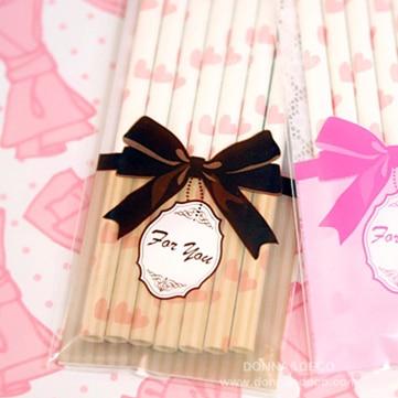Brown Bowknot Self Sealing Long Transpa Cello Bags Food Packaging Gift Bag 300pcs