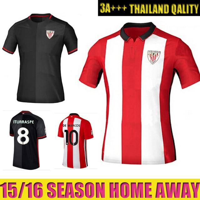 2016 Athletic Bilbao Soccer Jersey Athletic Club de Bilbao Camisetas Futbol  Red Black Football Shirt LAPORTE ITURRASPE DE MARCOS 207007fdc55c0