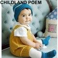 Princesa del otoño Mameluco Del Bebé Recién Nacido Ropa de Bebé Niñas niños Sin Mangas Mono Infantil de Los Mamelucos de Punto accesorios de Fotografía