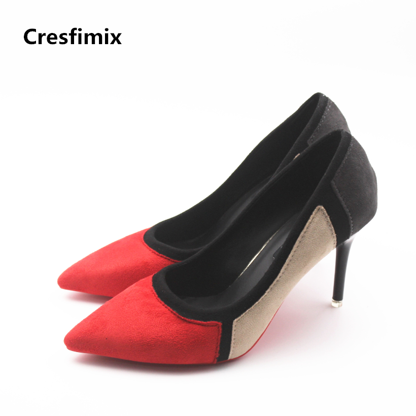 Cresfimix women fashion multi color high heel shoes lady cute spring & summer slip on party high heel pumps female casual shoes cresfimix women cute spring