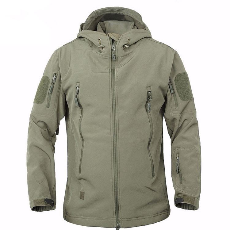 2018 TAD Winter Shark Skin Military Windproof Tactical Softshell Jacket Men Waterproof Army soft shell Coat