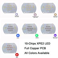 30W 10 Chip Intergrated Cree XPE2 XP E2 White Neutral White Warm White Blue Green Red