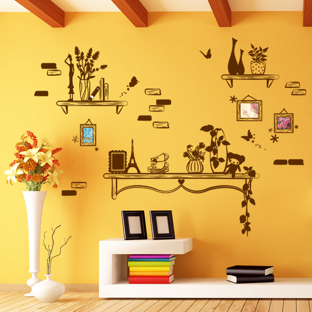 Removable Photo Frame Wall Sticker Creative Picture Wallpaper DIY ...