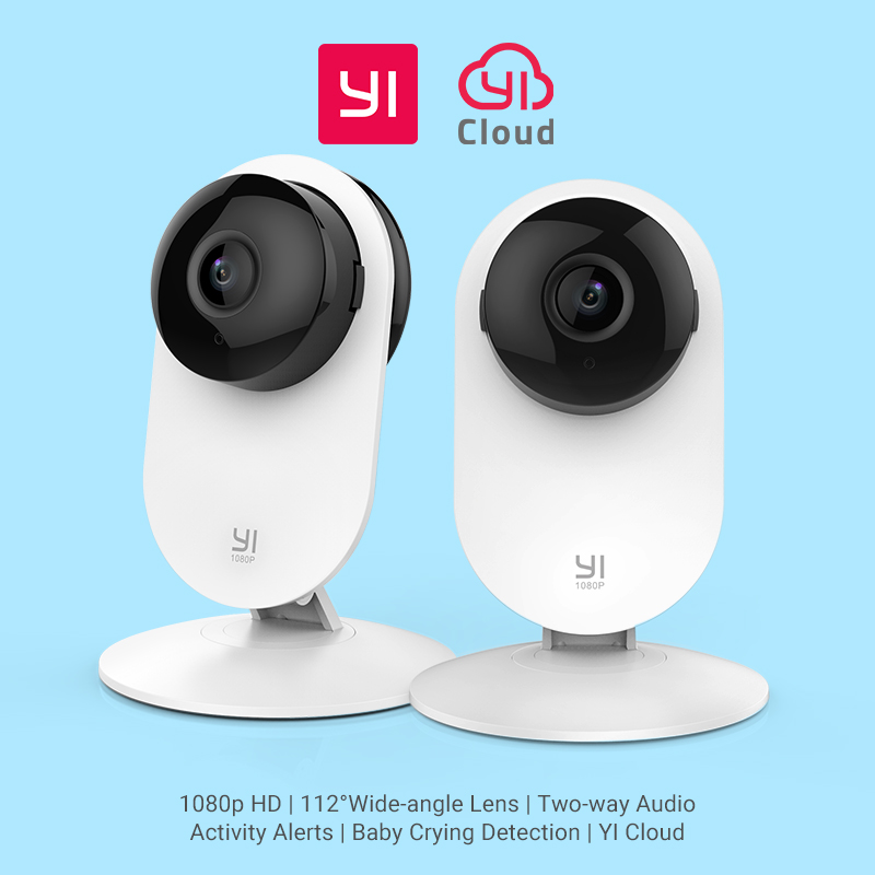 YI Home 1080P Camera 2pcs Set Baby Crying Detection Night Vision WIFI Wireless IP Cam CCTV Security Surveillance System Global