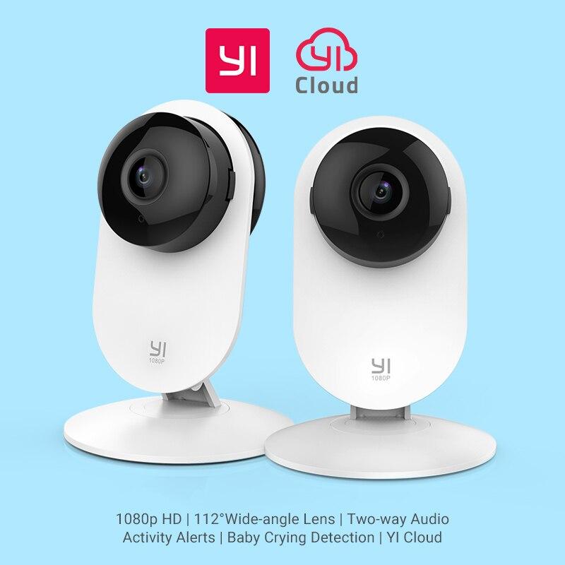 YI Home 1080 P камера 2 шт. комплект ребенок плачет обнаружения ночное видение Wi Fi Беспроводной IP Cam CCTV безопасности системы скрытого видеонаблюде...