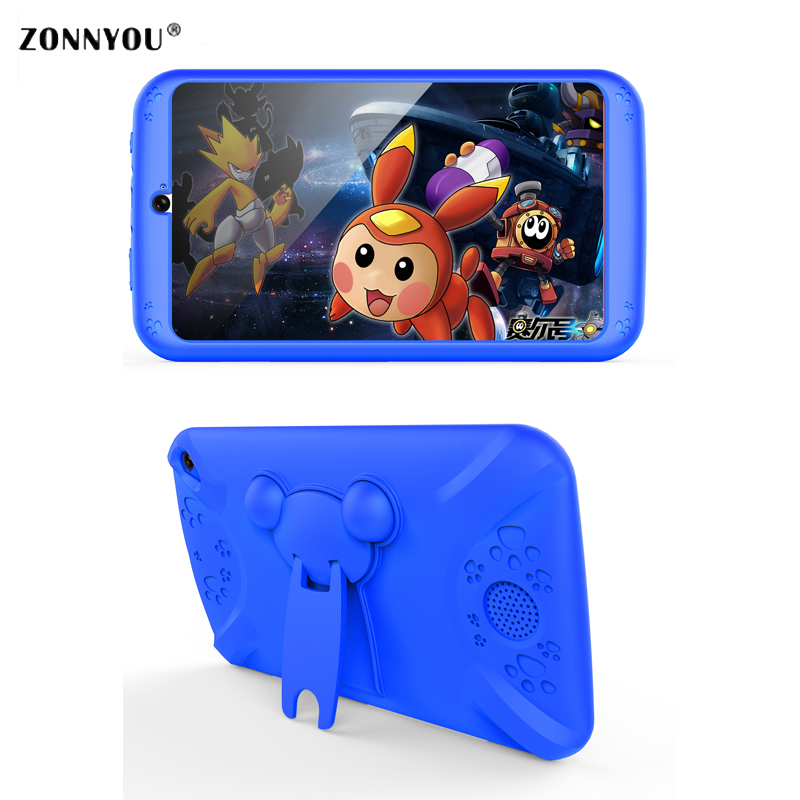 7'' Tablet PC Kids Tablet for Children 512MB+8GB Quad Core Screen 1024*600 Android4.4 Wifi Babypad With Kids Tablet Case цена