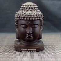 Fine Chinese old handmade aloes wood carving Shakya Muni Buddha ornaments Home Furnishing wood jewelry carvings,