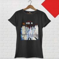 100 Cotton Letter Printed T Shirts Men S O Neck Radiohead Kid A Rock Band Short