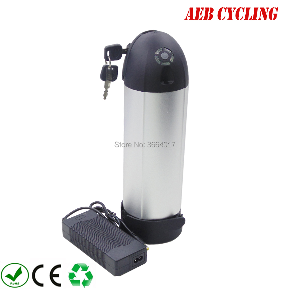 Free shipping to EU US bottle down tube 36V 10Ah high power Li ion ebike battery with charger for city bike folding bike|Electric Bicycle Battery| |  - title=