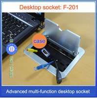 socket /Clamshell multifunctional desktop socket / Test cable desktop socket /Computer network VGA cable threading box F 201