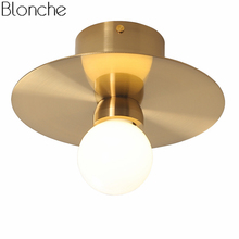 Nordic Gold Led Ceiling Lights for Living Room Bedroom Modern Metal Ceiling Lamp Indoor Wall Sconce Lighting Fixtures Luminaire vintage led ceiling lights rope hang lamp for home living room nordic bar lighting ceiling fixtures industrial decor luminaire