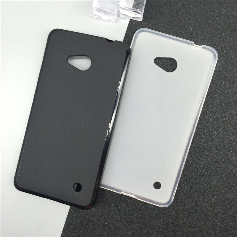 Soft Silicone Phone Cases for <font><b>Microsoft</b></font> Nokia <font><b>Lumia</b></font> <font><b>640</b></font> <font><b>Lte</b></font> Dual Sim N640 Original TPU Back Cover Pudding Case <font><b>Capa</b></font> Fundas Black image