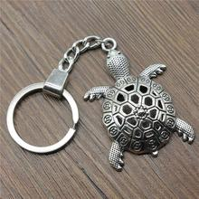Men Jewelry Key Chain Party Gift Keychains Dropshipping 55x37mm Big Turtle Tortoise Cuckold Antique Silver Rings