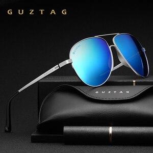 Image 1 - GUZTAG gafas de sol clásicas para hombre y mujer, lentes de sol de aluminio de gran tamaño, polarizadas, con protección UV400, G8005