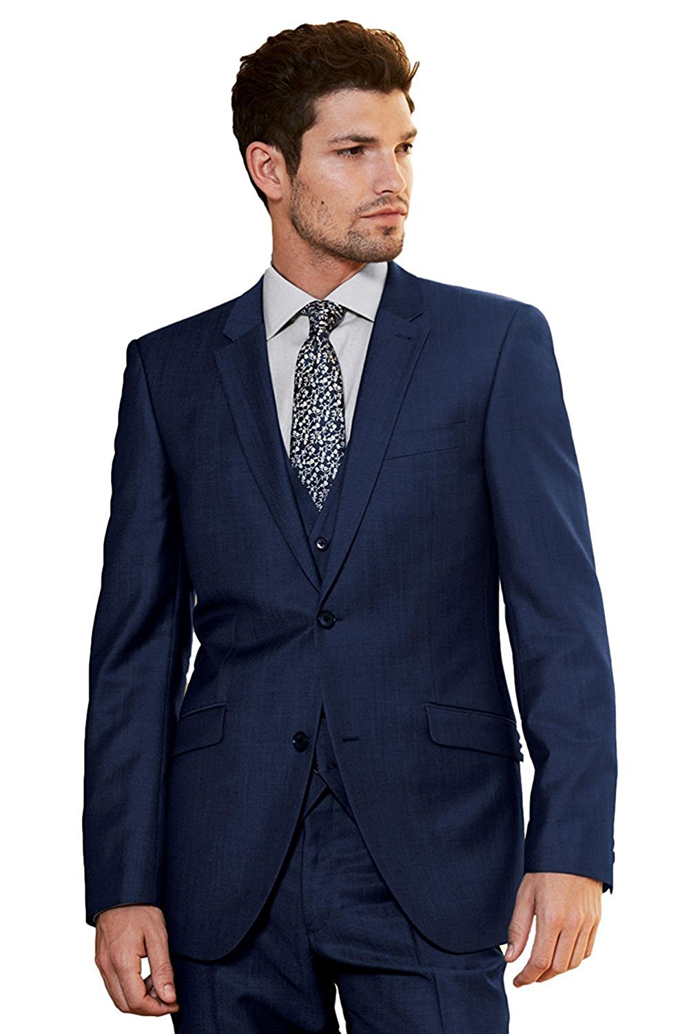 New Beige Slim Fit Mens Suit With Pants Two Buttons 3 Piece Formal Notch Lapel Business Blazer Best Man Tuxedos For Wedding