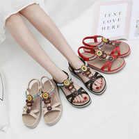 신발 여성 2019 여름 보헤미안 플랫폼 샌들 여성 패션 캐주얼 데이