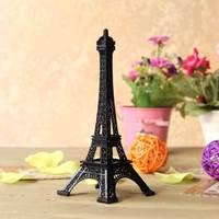 25cm High Quality Custom Metal Eiffel Tower Paris Souvenirs Black Color Model For Home Decoration