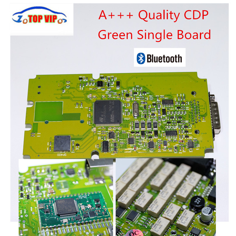 Best Quality TCS CDP Pro Newest 2015.3 with Keygen Single Green board CDP with Bluetooth Diagnostic Scanner for cars&Trucks single board pcb obd2 interface obdii diagnostics vd tcs cdp bluetooth usb cable full 8car cables for car and truck generic 3in1