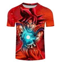 Funny Goku 3D Print T shirt Men Summer Short Sleeve Tops&Tees Boy Tshirt Groot Dragon Ball Hip Hop New Drop Ship