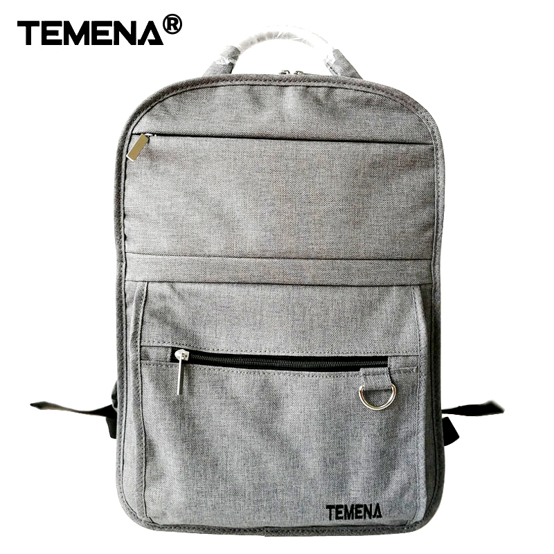 Temena Men's Backpacks Anti-thief Mochila for Laptop 14-15 Inch Notebook Computer Bags Men Backpack School Rucksack 15 inch backpacks anti thief mochila for men women large capacity laptop computer bags for school travel rucksack shoulder bag