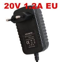 100PCS New 20v1.2a switching power supply LED lamp power supply 20 v power supply 20v 1.2A 1200mA power adapter EU plug