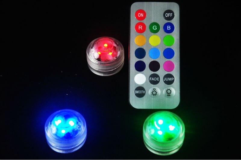 CR2032 Батарея 10 шт. * Питание Водонепроницаемый мини 3leds погружной светодиодные свечи Чай свет для Свадебная вечеринка Вазы украшения