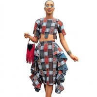 African Clothes For Lady Fashion Dashiki Top And Skirts Suit Dress Women Africa Clothing