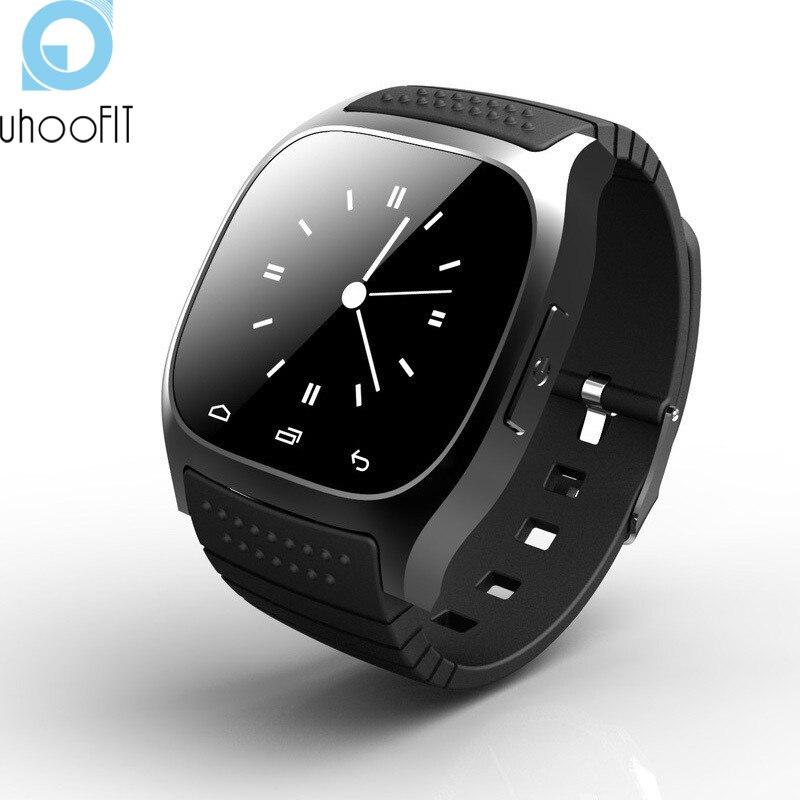 imágenes para Smartwatch impermeable M26 Bluetooth Inteligente de Pulsera Con LED Alitmeter U8 Podómetro Para IOS Android GV18 PK Teléfono Reproductor de Música