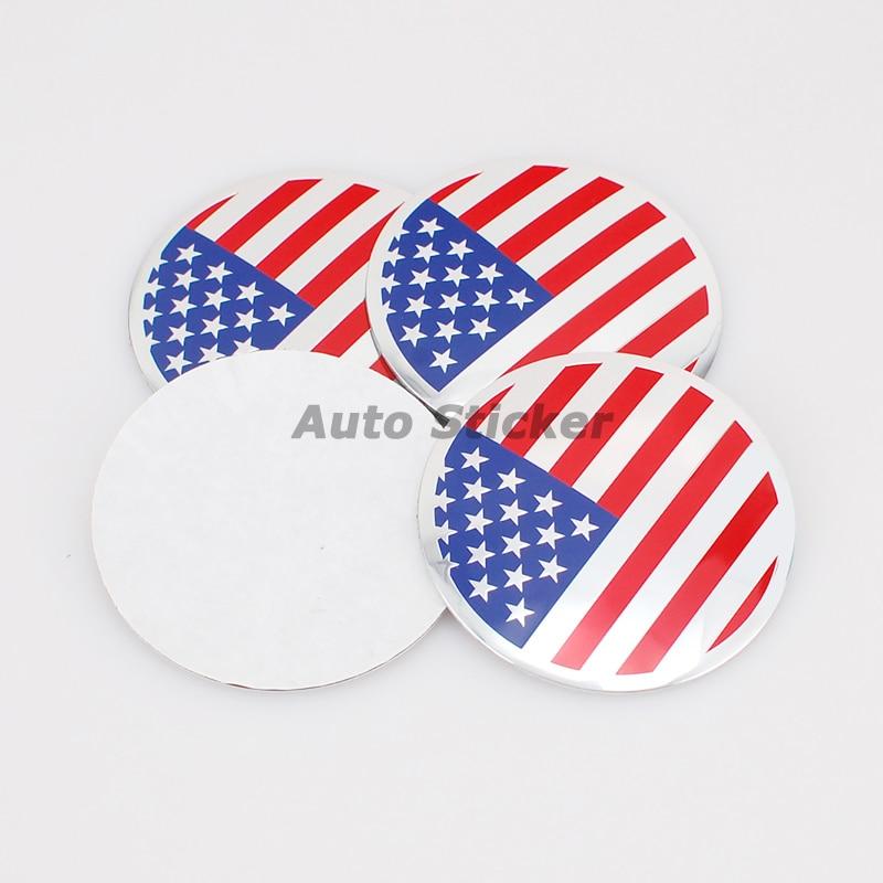 56 5mm Us American Flag Car Wheel Center Sticker Cover For Bmw Ford Chevrolet Volkswagen Audi Opel Volvo Mazda Citroen Peugeot