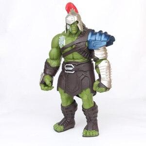 Image 3 - 18/35cm Big Size Avengers Marvel Thor 3 Ragnarok Hands Moveable War Hammer Battle Axe Gladiator Hulk BJD Action Figure Model Toy