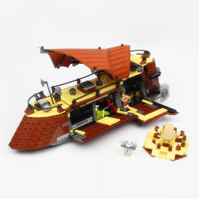 Lepin 05090 Star Starfighter Series Jabba Sail Barge 75020 Building Blocks 821Pcs Bricks Educational Toys For Children As Gift lepin 05040 y attack starfighter wing building block assembled brick star series war toys compatible with 10134 educational gift