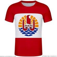 FRANSıZ POLINEZYASı t gömlek diy ücretsiz custom made adı numarası pyf t shirt ulusal bayrak pf fransız ülke baskı fotoğraf logosu kırmızı giysi