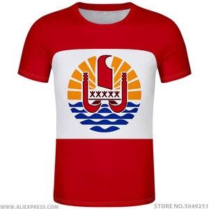 Image 1 - FRANZÖSISCH POLYNESIEN t hemd diy freies nach maß name anzahl pyf t shirt nation flagge pf französisch land druck foto logo rot kleidung