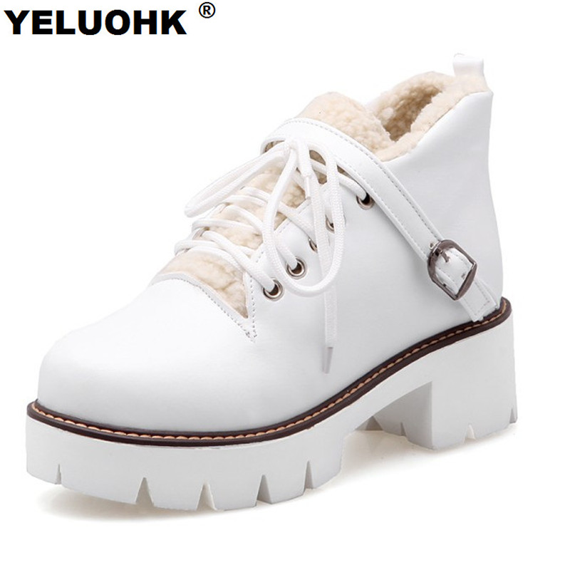 Large Size Winter Shoes For Women High Heels Warm Snow Boots Female Winter Boots Waterproof Shoes Woman Winter Platform Pumps baoyafang white red tassels women wedding shoes bride 12cm 14cm high heels platform shoes woman high pumps female shoes