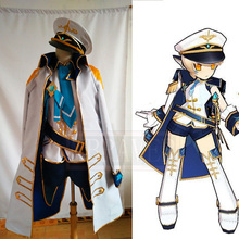 ELSWORD Eve Navy Cosplay Costume Party Halloween Uniform Out