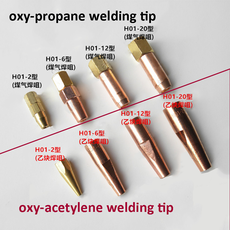 5Pc H01-6 Propane Gas Welding Nozzle Oxygen Gas Contact Tips Holder Gas Nozzle