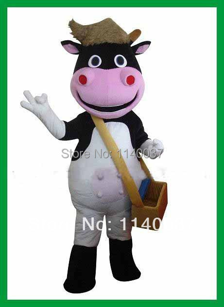 NO.1 MASCOT Professional Lovely Calf Mascot Costume Adult Size Calf Costume Cartoon Character Calf Cosply Carnival Fancy Dress