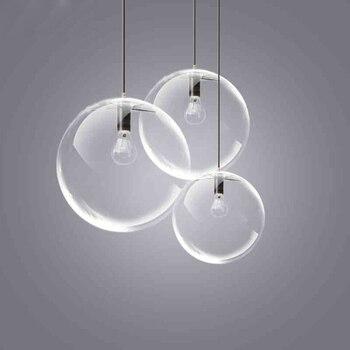 Luces bola colgante bola de cristal creativa lámpara colgante para ...