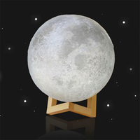 MUQGEW LED Magical Moon Night Light Moonlight Table Desk Moon Lamp Gift 3D USB Moon Lamp