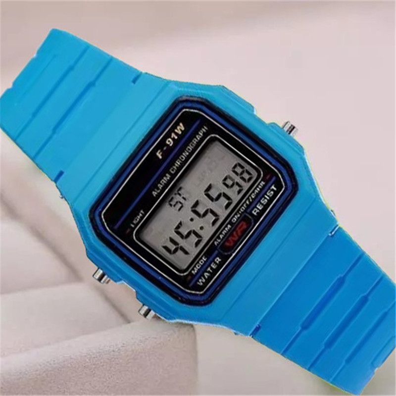 Waterproof Silicone Men Digital Watch Digital Watches Silicone Strap Boys Girls Electronic Watch Chronograph Alarm Cute Students