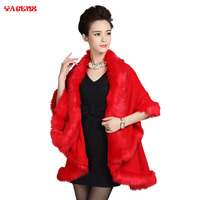 Fur Coat Snow Wear Wool Blend 2017 Winter Cardigans Faux Fox Fur Coat Cardigan Women Knitted