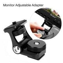 Evrensel monitör montaj tutucu Feelworld F570 F6 Bestview S7 S5 180 ayarlanabilir rotasyon kamera Video monitörü braketi dağı