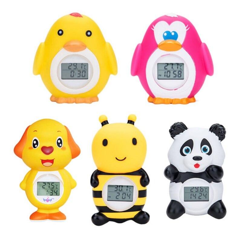 Wasser-thermometer Baby Jungen Mädchen Cartoon Tier Schöne Bad Thermometer Neugeborenen Abs/pvc Digital Gesundheit Schwimmende Sicherheits Temperatur Alarm