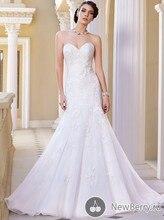 Grecian Style Wholesale Bridal Dress OEM Service Mermaid Sweetheart Appliqued Sweep Train Popular Hot Image Wedding Dress MF616