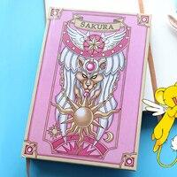Japón Anime Card Captor Sakura Clow Magia Niñas Portátiles de CARD CAPTOR SAKURA Cosplay Diario de Tapa Dura de La Vendimia Regalos de Papelería