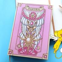 Japan Anime Card Captor Sakura Clow Magic Notebook Girls Vintage Hardcover CARDCAPTOR SAKURA Cosplay Diary Stationery Gifts