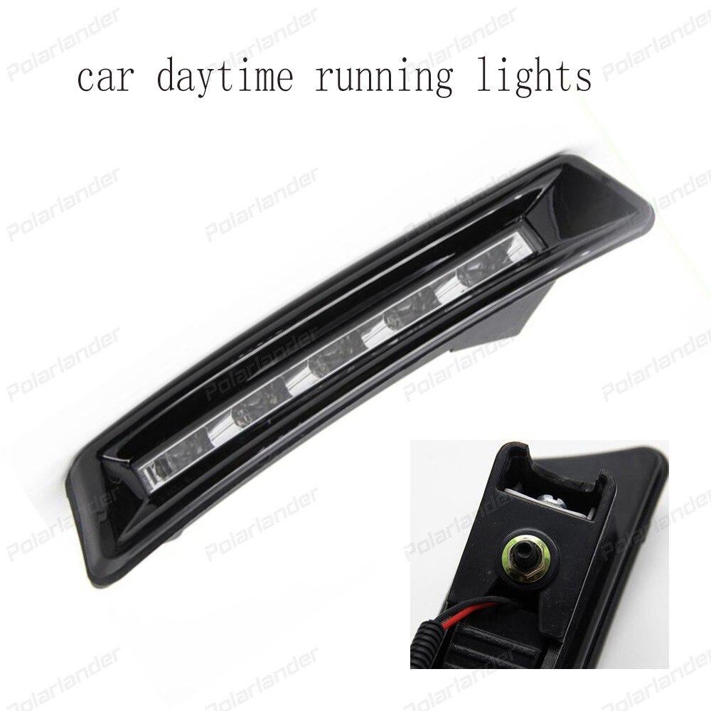 Hot selling car accessory car-styling led Daytime driving Running Fog Light DRL For T/oyota P/rado 2700 FJ150 LC150 2013-2015