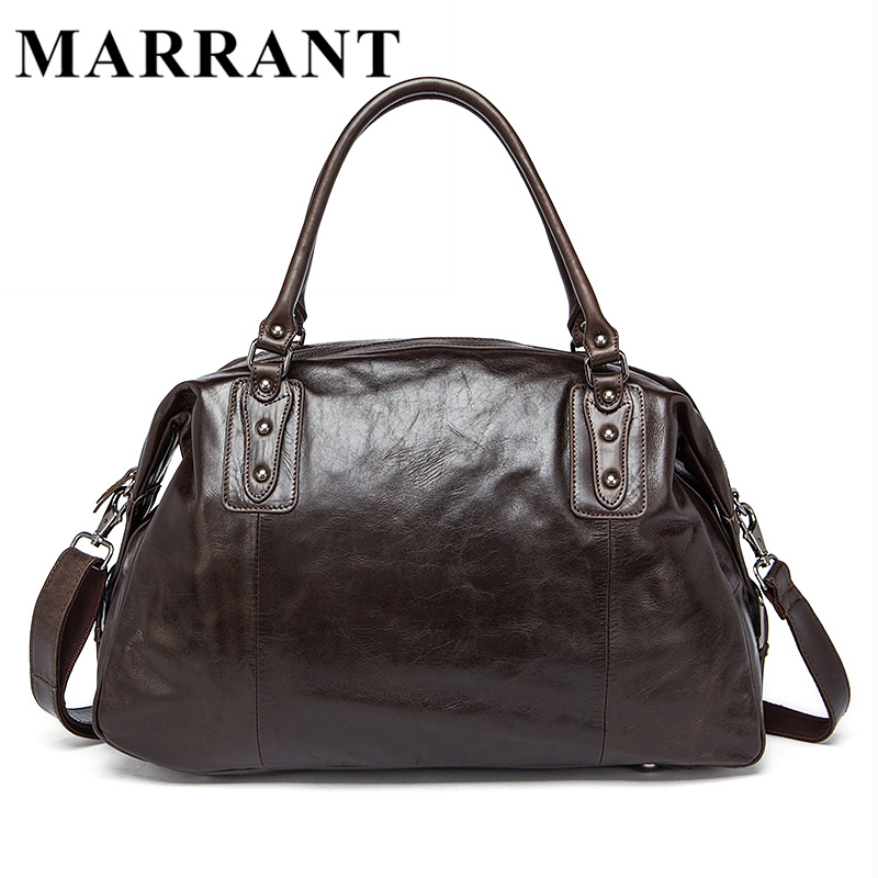 MARRANT Men Bags Genuine Leather Travel Duffle Men's Luggage HandBag Cowhide Large Handbag Male Crossbody Shoulder Bag 8912