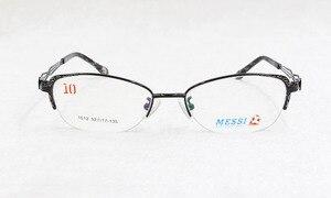 Image 3 - BCLEAR יפה נשים עין חתול סגנון מתכת סגסוגת משקפיים חדש חצי מסגרת נקבה eyewear שחור ורוד סגול אדום צבע חם 1012