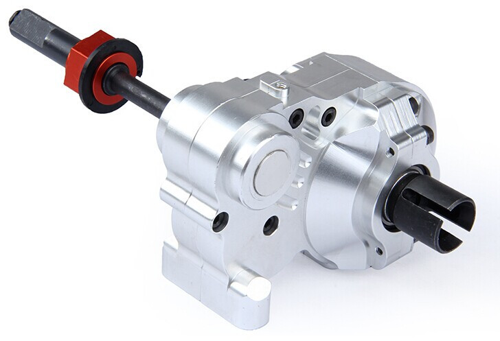 CNC heavy duty metal complete diff gear box differential gear box for 1/5 hpi baja 5b km rovan cnc alloy metal three sections of fission complete diff gear box set fit hpi km rovan baja 5b 5t 5sc king motor truck